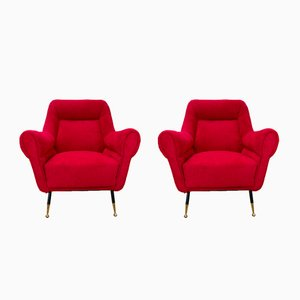 Mid-Century Italian Armchairs by Gigi Radice for Minotti, 1960s, Set of 2