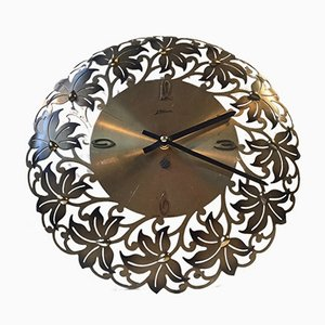 German Modernist Floral Wall Clock from Atlanta, 1960s