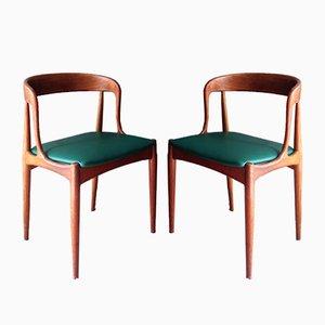 Sedie modello 16 in teak di Johannes Andersen per Uldum, anni '60, set di 2
