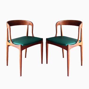 Sillas modelo 16 de teca de Johannes Andersen para Uldum, años 60. Juego de 2