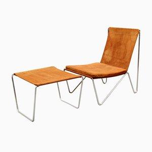 3350 & 3152 Bachelor Stuhl & Ottomane Set von Verner Panton für Fritz Hansen, 1950er