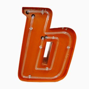 Dutch Neon Letter B Sign, 1970s