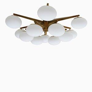 Lámpara de techo italiana Mid-century, años 50