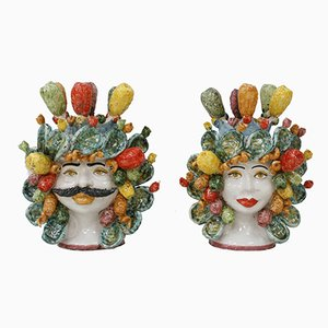 Sicilian Vases, 1950s, Set of 2