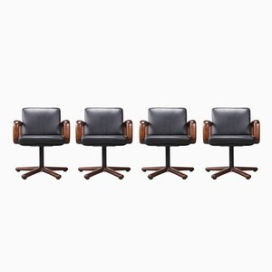 Model Hombre Swivel Chairs by Burkhard Vogtherr for Rosenthal, 1970s, Set of 4