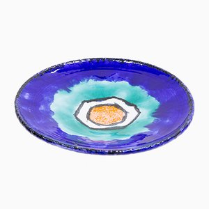 Large Ceramic Plate by Kerezsi Gyöngyi, 1970s
