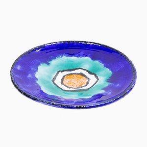 Piatto in ceramica di Kerezsi Gyöngyi, anni '70