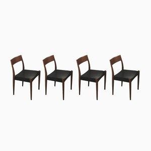 Chaises de Salle à Manger Modèle 175 en Teck par Arne Hovmand Olsen pour Mogens Kold, Danemark, 1950s, Set de 4
