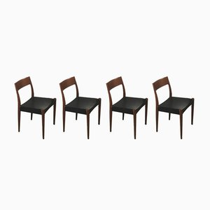 Danish Teak Model 175 Dining Chairs by Arne Hovmand Olsen for Mogens Kold, 1950s, Set of 4
