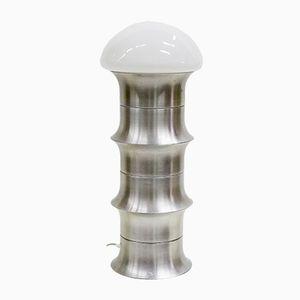 Arts and Crafts Aluminium Stehlampe, 1960er