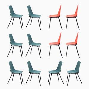 Vintage Plastik Stühle von Fantasia France, 1960er, 12er Set
