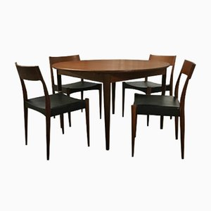 Danish Teak Dining Set by Arne Hovmand Olsen for Mogens Kold, 1950s