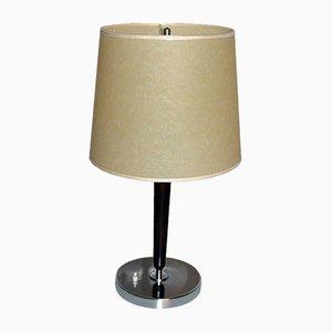 Lámpara de mesa Art Déco cromada, años 30