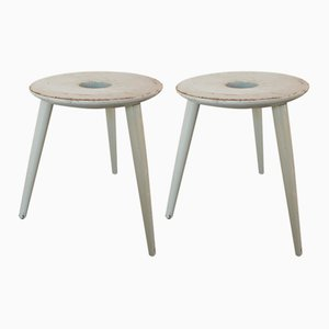 Model El 121 Bauhaus Stools by Eduard Ludwig for Georg Haydvogel, 1953, Set of 2