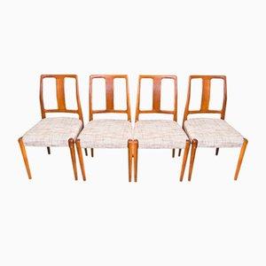 Sedie in teak di Burchardt & Nielsen, anni '60, set di 4