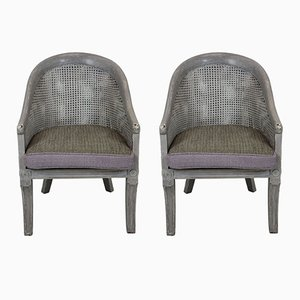 Vintage English Cane Chairs, 1930s, Set of 2