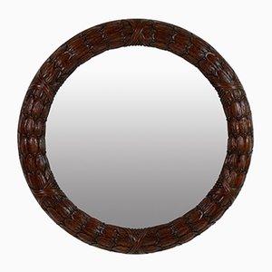 Miroirs Laurel Circulaire en Acajou, Set de 2