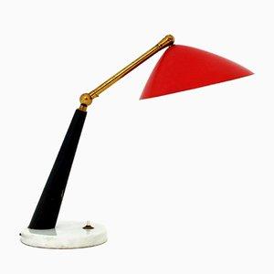 Lámpara de escritorio italiana Mid-Century de Stilux