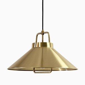 Lampada da soffitto Mid-Century in ottone di Lyfa, anni '70
