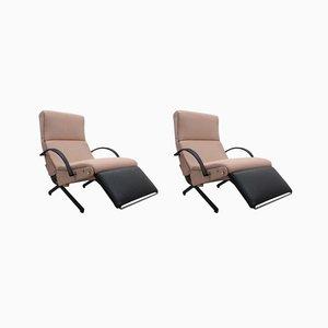 Modularer P40 Sessel von Osvaldo Borsani für Tecno, 1950er, 2er Set