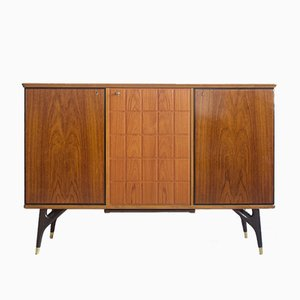 Vintage Sideboard in Teak & Stained Beech Veneer from AB Tabergsmöbler