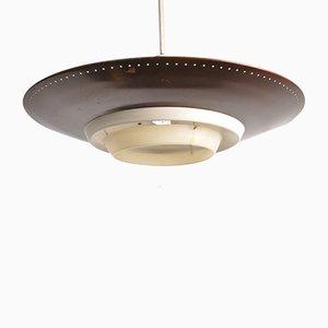 Lámpara de techo holandesa de Louis Kalff para Philips, años 50