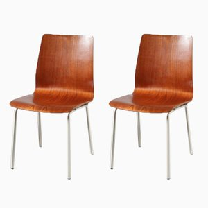 Chaises d'Appoint par Friso Kramer pour Auping, Pays-Bas, 1960s, Set de 2