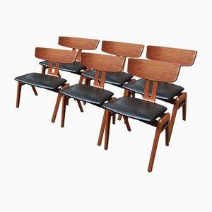 Sedie in teak, Scandinavia, anni '60, set di 6