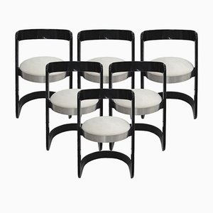 Vintage Dining Chairs by Willy Rizzo, Set of 6