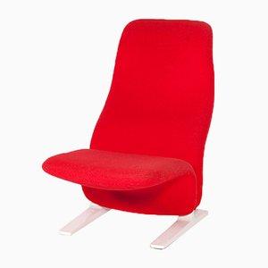 Roter Concorde Sessel von Pierre Paulin für Artifort, 1960er