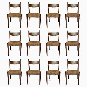 Esszimmerstühle, 1960er, 12er Set