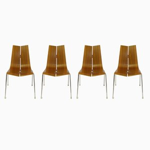 Stacking Chairs by Hans Bellmann for Horgen Glarus, 1950s, Set of 4
