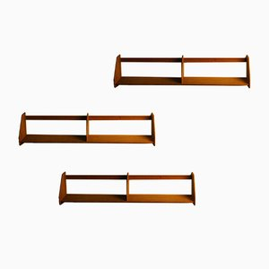Oak Wall-Mounted Shelves by Hans J. Wegner for Ry Møbler, Set of 3