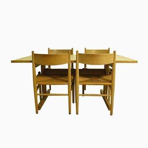 Vintage CH 36 Stühle & Shaker Tisch von Hans J. Wegner für Carl Hansen & Andreas Tuck, 1973