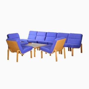 Vintage Modular Sofa and Coffee Table Set by Rud Thygesen & Johnny Sørensen for Magnus Olesen