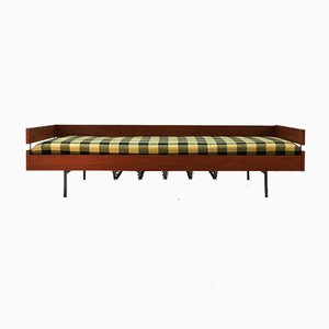 Steel & Teak Veneered Wood Daybed, 1960s