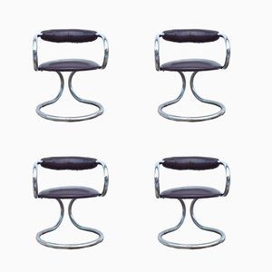 Italian Chairs from Tecnosalotto, 1970s, Set of 4