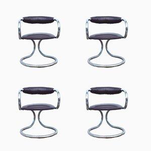 Italienische Stühle von Tecnosalotto, 1970er, 4er Set