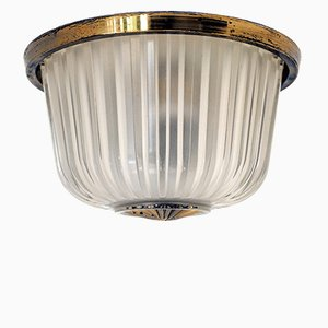 Italian Ceiling or Wall Lamp in Pressed Crystal from Seguso, 1940s