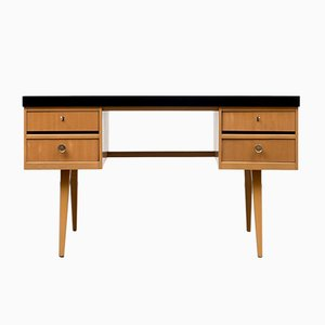 Deutscher furnierter Ekawerk Schreibtisch mit Formica Platte, 1950er