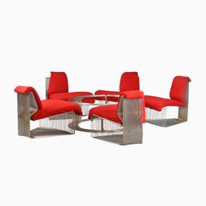 Mid-Century Pantonova Living Room Set by Verner Panton for Fritz Hansen