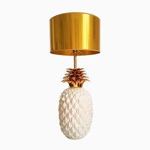 Lampada grande in ceramica con base a forma di ananas, Francia, anni '70