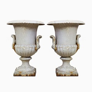 Antique French Medici Amphoras, Set of 2