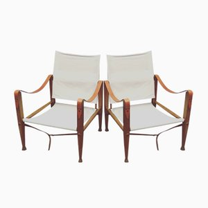 Chaises Safari par Kaare Klint, 1930s, Set de 2