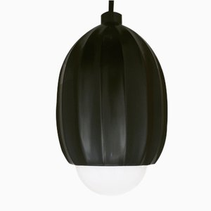 Poppy Pendant Light in Lost Wax Cast Blackened Brass by Fred&Juul