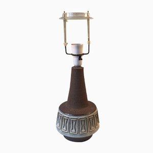Lámpara de mesa Chamotte danesa de cerámica de Michael Andersen & Son, años 70