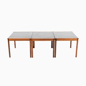Danish Rosewood Coffee Tables, 1960s, Set of 3