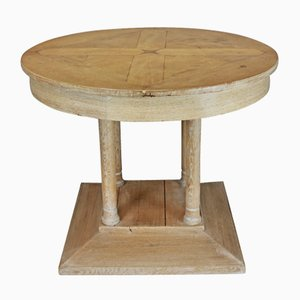 Vintage French Limed Oak Pillar Table