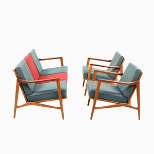 Vintage Kandidaten Living Room Set by Ib Kofod-Larsen for Olof Person