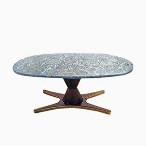 Tavolo da pranzo in palissandro e marmo di Vittorio Dassi per Mobili Moderni Lissone, anni '50